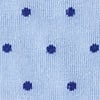 Light Blue Carded Cotton Dapper Dots Sock