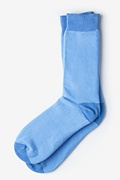 Hollywood Solid Light Blue Sock Photo (0)