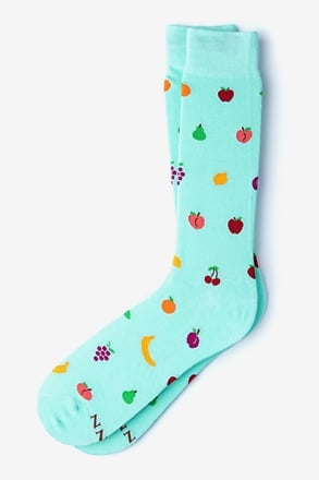 Mixed Fruit Light Blue Sock