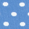 Light Blue Carded Cotton Power Dots Sock