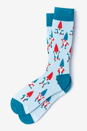 Gnome Light Blue Sock