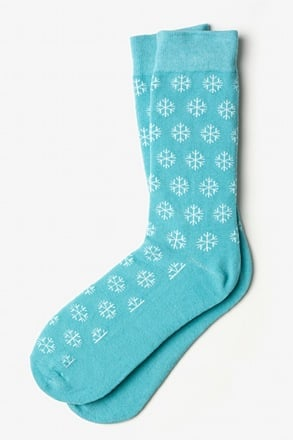 _Snowflakes Light Blue Sock_