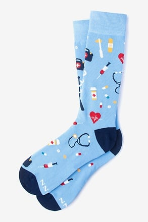 _What's up Doc? Light Blue Sock_