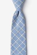 Light Blue Cotton Bisbee Extra Long Tie