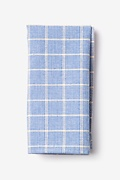 Light Blue Cotton Bisbee Pocket Square