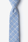 Light Blue Cotton Bisbee Skinny Tie
