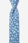 Light Blue Cotton Bluebell Skinny Tie