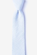 Light Blue Cotton Cheviot Skinny Tie