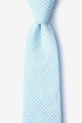 Light Blue Cotton Clyde Extra Long Tie
