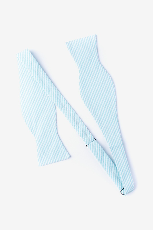 Clyde Light Blue Self-Tie Bow Tie Photo (1)