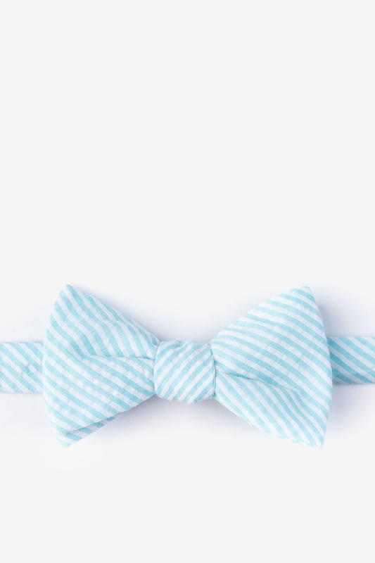 Clyde Light Blue Self-Tie Bow Tie Photo (0)