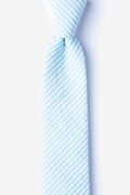 Light Blue Cotton Clyde Skinny Tie