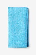 Light Blue Cotton Denver Pocket Square