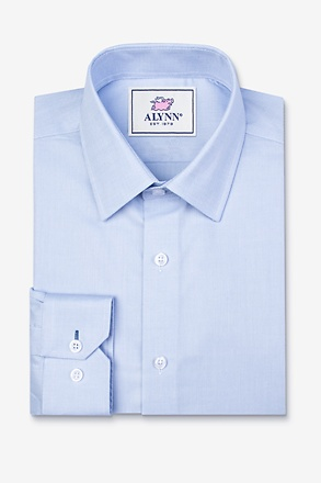 _Elijah Light Blue Slim Fit Dress Shirt_