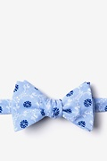 Light Blue Cotton La Grande Self-Tie Bow Tie