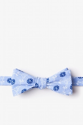 La Grande Light Blue Skinny Bow Tie