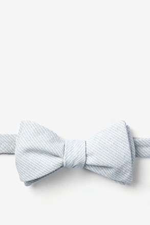 Light Blue Northrup Stripe Butterfly Bow Tie
