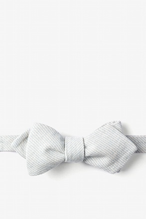 Light Blue Northrup Stripe Diamond Tip Bow Tie