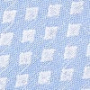 Light Blue Cotton Poway Diamond Tip Bow Tie