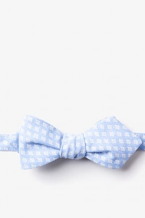 Poway Light Blue Diamond Tip Bow Tie