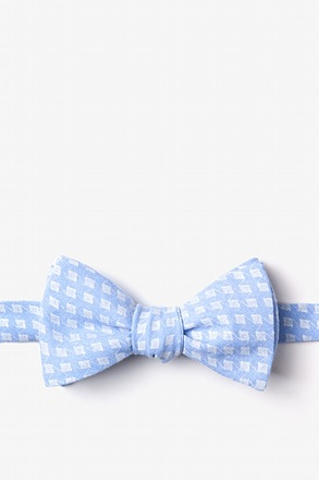 _Poway Light Blue Self-Tie Bow Tie_