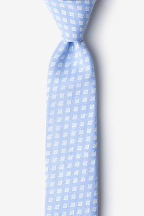 _Poway Light Blue Skinny Tie_