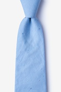 Light Blue Cotton Teague Extra Long Tie