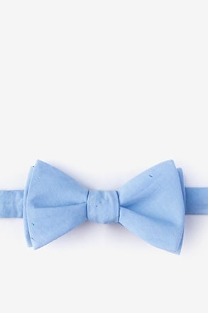 Teague Light Blue Self-Tie Bow Tie
