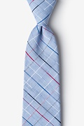Light Blue Cotton Tom Extra Long Tie
