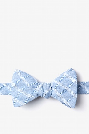 Yakima Light Blue Self-Tie Bow Tie