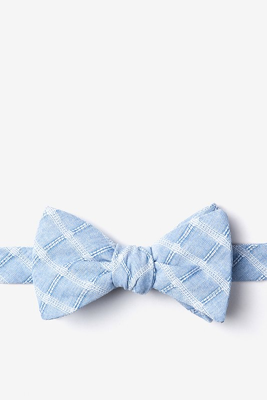 Yakima Light Blue Self-Tie Bow Tie Photo (0)
