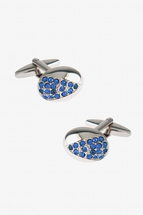 Bedazzled Rounded Oval Cufflinks