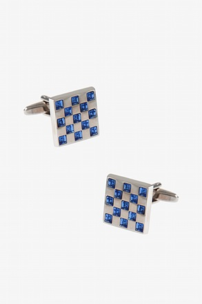 Bejeweled Square Light Blue Cufflinks