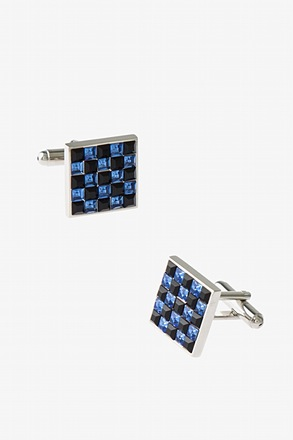 _Bejeweled Square Cufflinks_