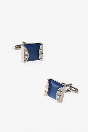Framed Square Gem Cufflinks