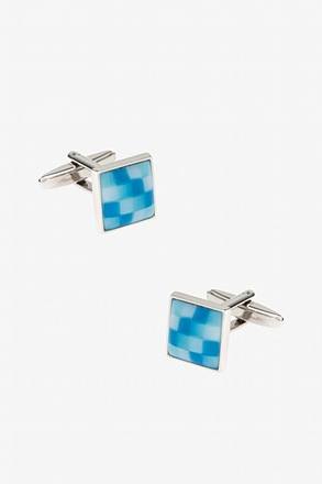Mini Square Color Scheme Light Blue Cufflinks