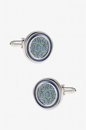 Round Starry Pattern Cufflinks