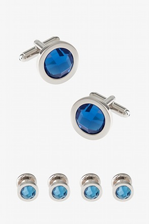 Solid Dot Set Cufflink & Stud Set