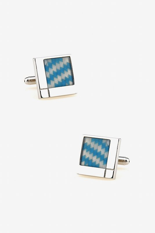 Staggering Illusions Light Blue Cufflinks Photo (0)