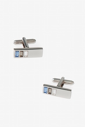 Three Gem Bar Cufflinks