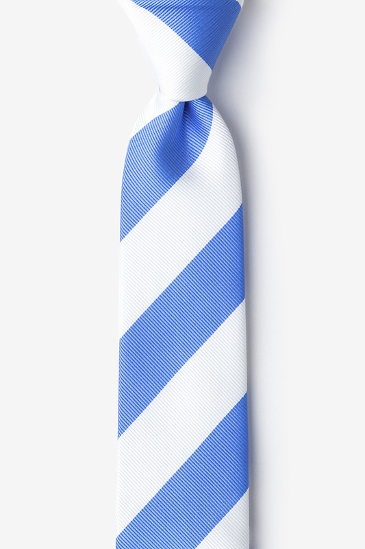 Carolina Blue & White Stripe Light Blue Skinny Tie