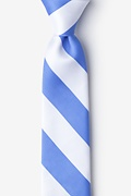 Light Blue Microfiber Carolina Blue & White Stripe Tie For Boys