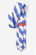 Carolina Blue & White Stripe Extra Long Tie
