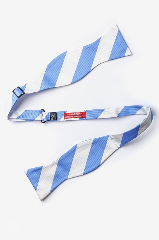 Carolina Blue & White Stripe Self-Tie Bow Tie