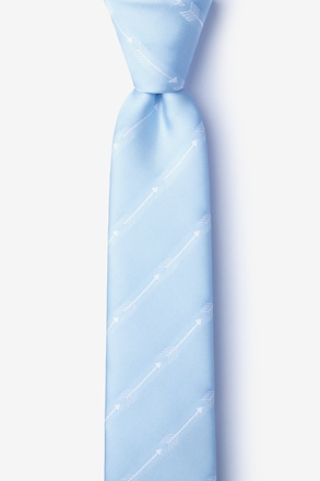Flying Arrows Light Blue Skinny Tie