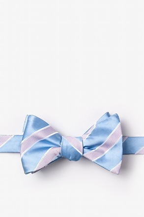_Jefferson Stripe Light Blue Self-Tie Bow Tie_