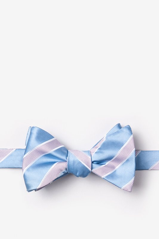 Jefferson Stripe Self-Tie Bow Tie Photo (0)