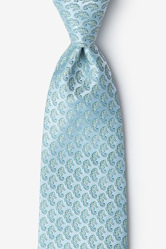 Seahorses Extra Long Tie Photo (0)