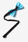 Metal-Tipped Light Blue Pre-Tied Bow Tie Photo (1)