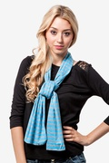 Traveling Stripe Light Blue Scarf by Scarves.com